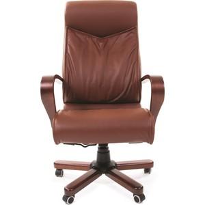 Офисное кресло Chairman 420 WD кожа коричневая chairman кресло руководителя chairman ch 435 коричневая кожа