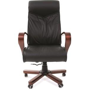 Офисное кресло Chairman 420 WD кожа черная офисное кресло chairman 403 кожа pu черное