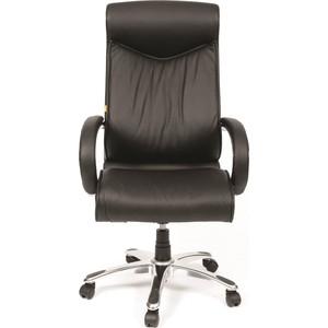 Офисное кресло Chairman 420 Россия кожа черная офисное кресло chairman 403 кожа pu черное