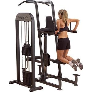 Тренажер Body Solid турник\брусья\отжимания с противовесом с весовым стеком 95 кг, FCD-STK тренажер турник брусья body solid bfvk10