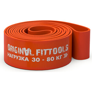 Эспандер Original Fit.Tools ленточный, Длина по окружности 208 см, толщина 4,5 мм, ширина 83,5 мм, с логотипом FT-EX-208-83