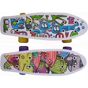 Скейтборд Action CMW019 пластиковый 17x5 скейтборд пластиковый action цвет голубой дека 71 см х 19 см