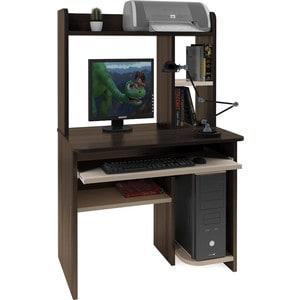 Компьютерный стол Атлант Интел 1 Венге магия, дуб девонширский