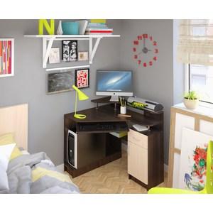 Компьютерный стол Атлант Интел 5 венге магия, дуб девонширский