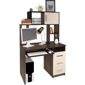 Компьютерный стол Атлант Интел 12 венге магия, дуб девонширский тумбочка мебель трия прикроватная токио пм 131 03 см дуб белфорт венге цаво