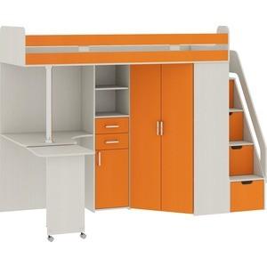 Кровать Атлант Карамель 77-03 сосна карелия/оранжевый  кровать фран юниор св 108 сосна тонированная