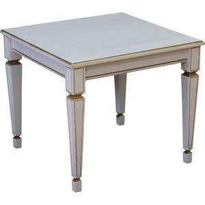 Стол журнальный Мебелик Васко В 82 белый ясень/золото журнальный столик мебелик стол журнальный васко в 82с