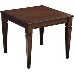 Стол журнальный Мебелик Васко В 82 темно-коричневый/патина шатура стол журнальный васко в 80 темно коричневый патина