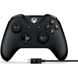 Геймпад Microsoft XBox One Controller black + Cable (4N6-00002) аккумулятор black horns для геймпада xbox one