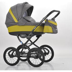 Коляска Mr Sandman Voyage Premium (50пр кожа) Горчичный Перфорированный - Темно-Серый (KMSVP50-0700CH10) коляска mr sandman guardian 2 в 1 графит серый kmsg 043601