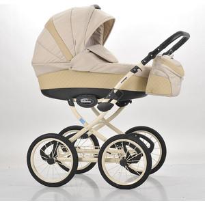 Коляска Mr Sandman Voyage Premium Люлька (50пр кожа) Бежевый Перфорированный - Бежевый (KMSVP50-0699CH14) коляска mr sandman voyage premium люлька 50пр кожа персиковый перфорированный серый kmsvp50 0699ch09