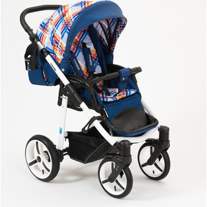 Коляска прогулочная Mr Sandman Traveler Premium Синий - Кантри - Синий (KMSTP-0610SL05) цена