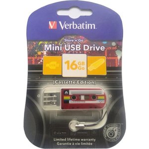 Флеш-диск Verbatim 16Gb Mini Cassette Edition Red (49398) барный стул roxy