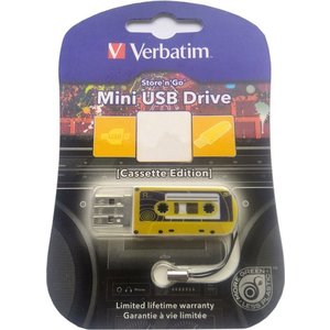 Флеш-диск Verbatim 32Gb Mini Cassette Edition Yellow (49393)