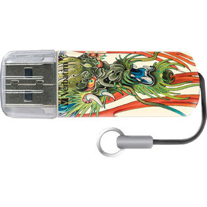 Флеш-диск Verbatim 32Gb Mini Tattoo Edition Dragon (49899) new top mini palm tattoo power supply red