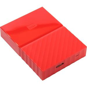 Внешний жесткий диск Western Digital 1Tb My Passport red (WDBBEX0010BRD-EEUE) жесткий диск пк western digital wd10ezrz 1tb wd10ezrz