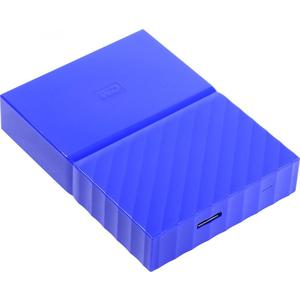 Внешний жесткий диск Western Digital 2Tb My Passport blue (WDBUAX0020BBL-EEUE) жесткий диск western digital my book duo 4tb wdbrmh0040jch eeue