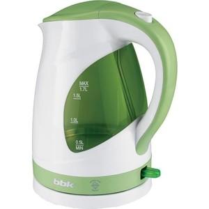 Чайник электрический BBK EK1700P белый/зеленый электрический чайник василиса т1 1500 белый зеленый