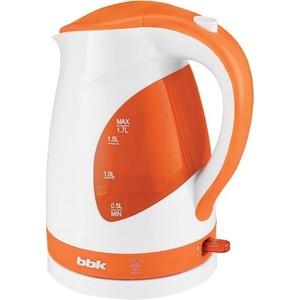 Чайник электрический BBK EK1700P белый/оранжевый чайник электрический bbk ek1705s оранжевый