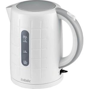 Чайник электрический BBK EK1703P белый/металлик чайник bbk ek1703p 2200 вт 1 7 л пластик белый металлик