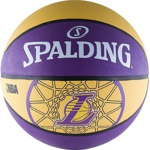 Мяч баскетбольный Spalding любительский Los Angeles Lakers р.7 (83-156z) los angeles clippers 2014 2015 hoops basketball nba licensed factory sealed 8 card team set with blake griffin chris paul and more