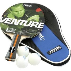 Набор для настольного тенниса Stiga Venture 1* WRB (ракетка, чехол и 3 мяча)