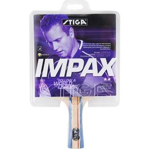 Ракетка для настольного тенниса Stiga Impax ACS WRB 2** (1677-01) stiga для snow cube 1811 2579 01