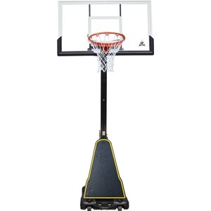 Баскетбольная мобильная стойка DFC STAND50P 127x80 см поликарбонат баскетбольная стационарная стойка dfc ing44p1 112x75 см акрил винтовая регулировка
