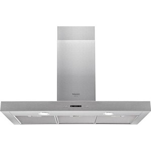 Вытяжка Hotpoint-Ariston HHBS 9.7F LLI X вытяжка каминная hotpoint ariston hlb 9 8 aadc x ha