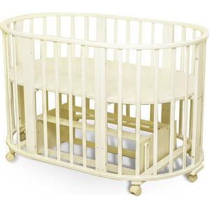 Кроватка Sweet Baby Delizia Avorio (Слоновая кость) с маятником (383065) детская кроватка sweet baby delizia 5 в 1 avorio слоновая кость без маятника