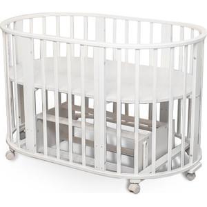 Кроватка Sweet Baby Delizia Bianco (Белый) с маятником (383066) наматрасники sweet baby наматрасник sb k012 овальный