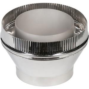 Переходник Феникс труба/сэндвич диаметр 110/200 мм (1.0 нерж.мат./0.5 нерж.зерк.)(00808)