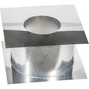 Потолочно-проходной узел Феникс диаметр 115 мм (0.5 нерж.мат./0.5 нерж.зерк.)(365х365 мм)(00838)