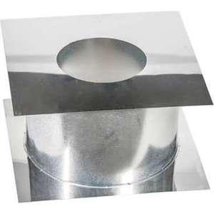 Потолочно-проходной узел Феникс диаметр 110 мм (0.5 нерж.мат./0.5 нерж.зерк.)(365х365 мм)(00863)
