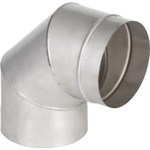 Отвод Феникс дымоходный 115 мм угол 90 градусов (1.0 нерж.мат.)(00899)