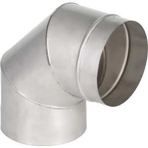 Отвод Феникс дымоходный 150 мм угол 90 градусов (1.0 нерж.мат.)(00903) тройник феникс сэндвич 115 200 мм угол 90 градусов 1 0 нерж мат 0 5 оцинк 01046