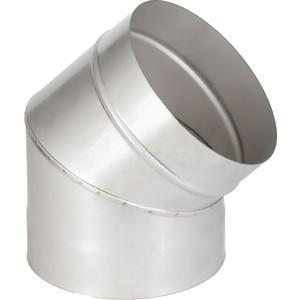 Отвод Феникс дымоходный 200 мм угол 45 градусов (1.0 нерж.мат.)(00904)