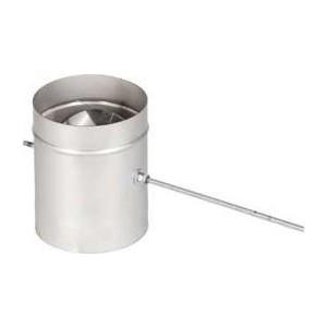 Шибер Феникс дымоходный 110 мм поворотный (1.0 нерж.мат.)(00926)