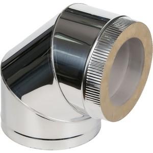 Отвод Феникс сэндвич 115/200 мм угол 90 градусов сталь AISI 430 (1.0 нерж.мат./0.5 нерж.зерк.)(01000) цена