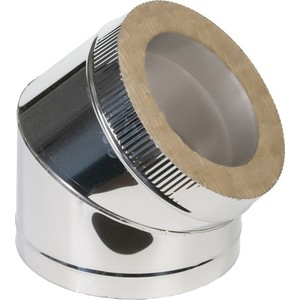 Отвод Феникс сэндвич 150/200 мм угол 45 градусов (0.5 нерж.мат./0.5 оцинк.)(01006)