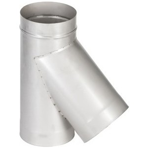Тройник Феникс дымоходный 150 мм угол 45 градусов (1.0 нерж.мат.)(02475) душевой трап pestan square 3 150 мм 13000007