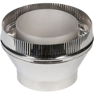 Переходник Феникс сэндвич/труба диаметр 210/150 мм (1.0 нерж.мат./0.5 нерж.зерк.)(03033)