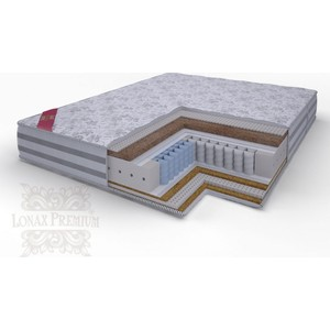 Матрас Lonax Lorentto Pocket multizone 5-зон 180х195х26 матрас lonax lorentto pocket multizone 5 зон 80х190х26