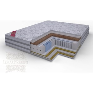 Матрас Lonax Lorentto Lux Anatomic multizone 5-зон 140х200х26 матрас lonax lorentto lux anatomic multizone 5 зон 80х195х26