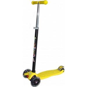 Самокат 3-х колесный Funny Scoo Fly maxi (MS-950) желтый самокат 3 х колесный funny scoo fly luxe ms 950 фиолетовый