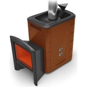 все цены на Печь для бани и сауны Термофор Гейзер 2014 Inox Витра терракот со встроенным теплообменником онлайн