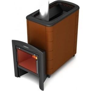 Печь для бани и сауны Термофор Тунгуска XXL 2013 Inox Витра терракот со встроенным теплообменником