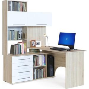 Компьютерный стол СОКОЛ КСТ-14Л дуб сонома/белый компьютерный стол сокол кст 109 дуб сонома белый левый
