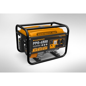 Генератор бензиновый Carver PPG-4500 комплект транспортировочный carver для генераторов ppg 3600 8000е 01 020 00014