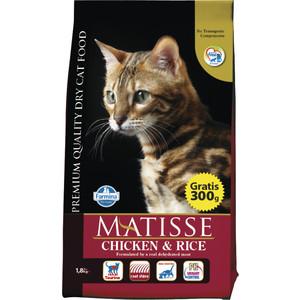 Сухой корм Farmina MATISSE Chicken & Rice с курицей и рисом для взрослых кошек 1,5кг (32072)
